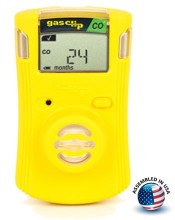 Gas Clip Technologies SGC-C Single Gas Clip Infrared Carbon Monoxide (CO) Detector, 2 Year Battery Life