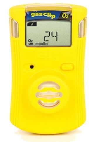 Gas Clip Technologies SGC-O Single Gas Clip Infrared Oxygen (O2) Detector, 2 Year Battery Life