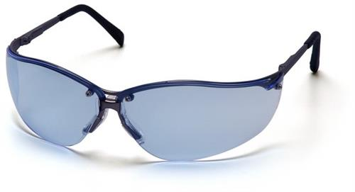 Pyramex SGM1860S Safety Glasses, V2-Metal Eyewear Infinity Blue Lens with Gun Metal Frame, Qty: Box/12 prs