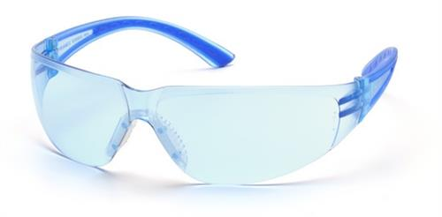 Pyramex SN3660S Safety Glasses, Cortez Eyewear Infinity Blue Lens with Navy Temples, Qty: Box/12 prs