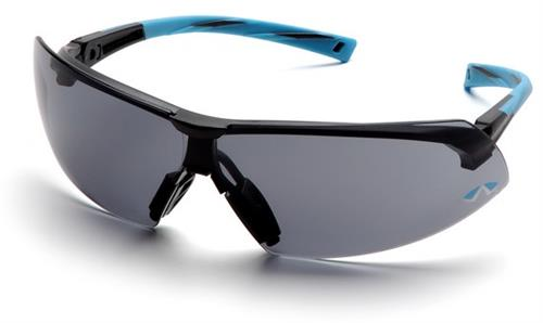 Pyramex SN4920S Safety Glasses, Onix Eyewear Gray Lens with Black/Blue Frame, Qty: Box/12 prs