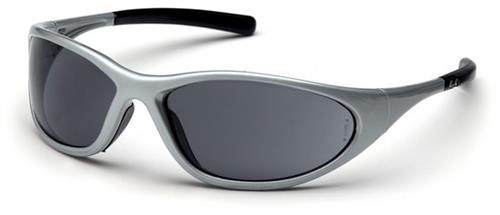 Pyramex SS3320E Safety Glasses, Zone II Eyewear Gray Lens with Silver Frame, Qty: Box/12 prs