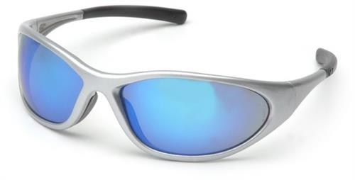 Pyramex SS3365E Safety Glasses, Zone II Eyewear Ice Blue Mirror Lens with Silver Frame, Qty: Box/12 prs