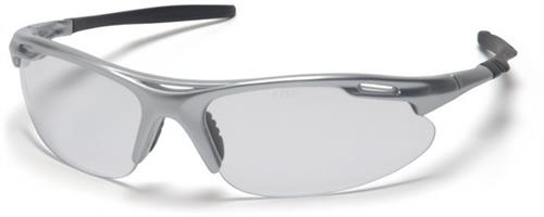 Pyramex SS4510D Safety Glasses, Avante Eyewear Clear Lens with Silver Frame, Qty: Box/12 prs