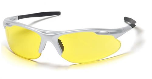 Pyramex SS4530D Safety Glasses, Avante Eyewear Amber Lens with Silver Frame , Qty: Box/12 prs
