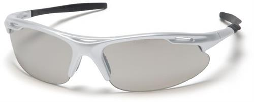 Pyramex SS4580D Safety Glasses, Avante Eyewear IO Mirror Lens with Silver Frame , Qty: Box/12 prs