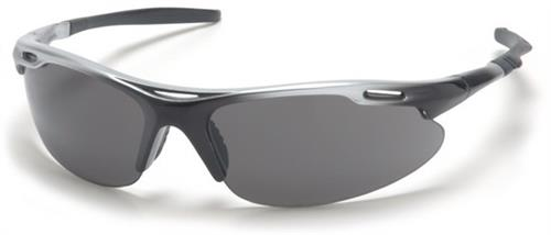 Pyramex SSB4520D Safety Glasses, Avante Eyewear Gray Lens with Silver Black Frame, Qty: Box/12 prs