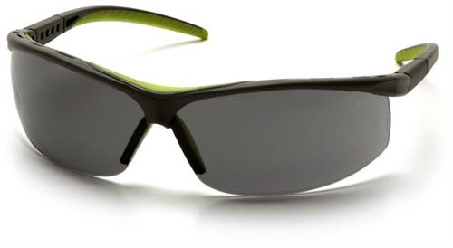 Pyramex SSG3420S Safety Glasses, Pacifica Eyewear Gray Lens with Slate Gray Frame and Brow Protector, Qty: Box/12 prs