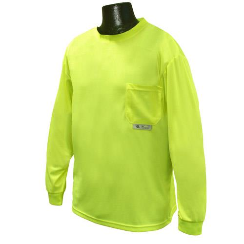 Radians ST21-N Hi Vis Green Non-Rated Long Sleeve Moisture Wicking T-Shirt