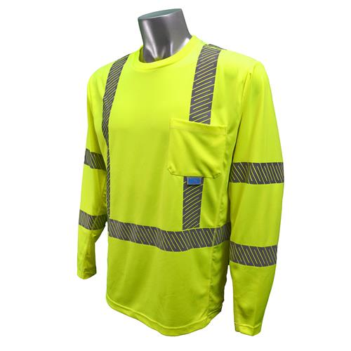 Radians ST31-3  Hi Vis Class 3 Long Sleeve Cooling T-Shirt with RadCool & Max-Dri Moisture Wicking Technology