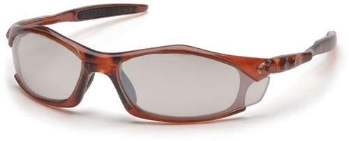 Pyramex STO4380D Safety Glasses, Solara Eyewear IO Mirror Lens with Orange Frame, Qty: Box/12 prs