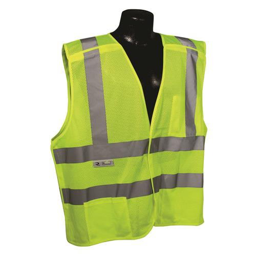 Radians SV45-2ZGM Class 2 Fire Retardant Mesh Breakaway Vest - Green