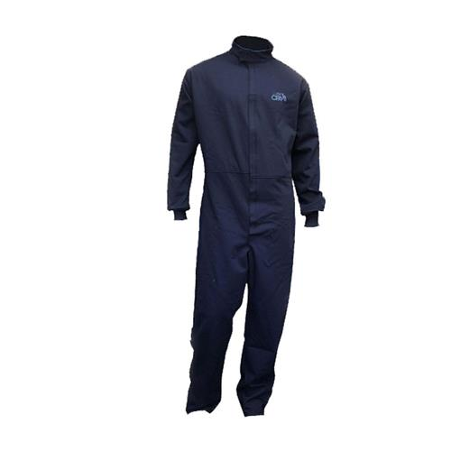 Chicago Protective Apparel SW-605-12, 12 Cal Arc Flash Coverall, 9 oz. Navy Indura Ultra Soft
