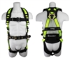 SafeWaze SW160-QC Pro Construction Harness, QC Chest & Legs, Removable Belt, Rated 420 lbs
