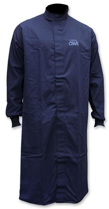 "Chicago Protective Apparel SWC-12, 12 Cal Arc Flash Protective Clothing, 50"" Jacket, 9 oz. Indura Ultra Soft, Navy"