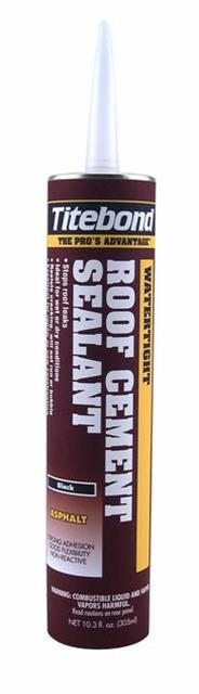 Titebond Roof Cement Sealant, 10.3 oz Cartridge, Case/12, Black 3211