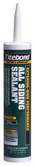 Titebond All Siding Sealants, 10.1 Oz. Cartridge, Case/12, 6 Color Choices