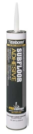 Titebond PROvantage Weatherproof Subfloor Adhesive, 10 oz. or 28 oz. Cartridge, Case/12