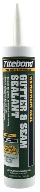 Titebond WeatherMaster Gutter and Seam Sealant, 10.1 Oz. Cartridge, Case/12 - 7321 White or  7331 Aluminum Gray