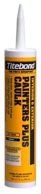Titebond Painters Plus Caulk, 10.1 Oz. Cartridge, Case/12, 8 Color Choice