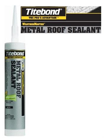 Titebond WeatherMaster Metal Roof Sealants - White Colors, 12/Case