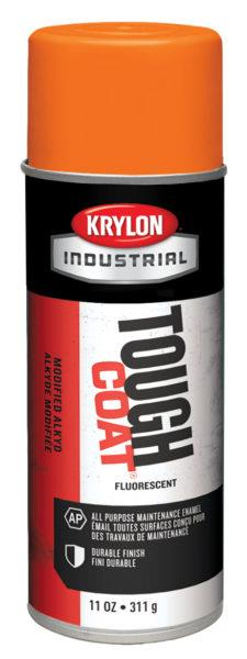 Krylon Tough Coat Acrylic Enamels, Fluorescent Orange S01811