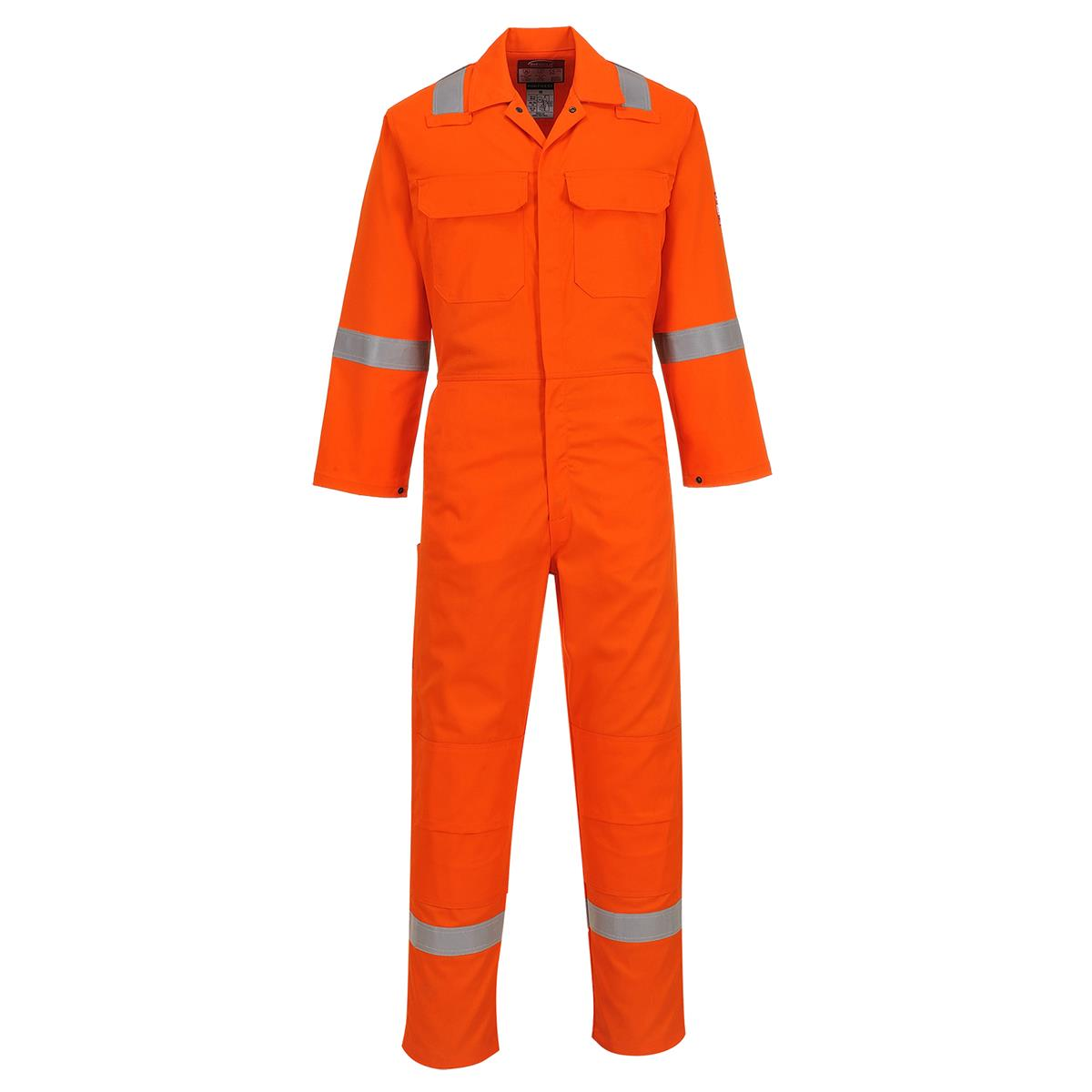 Portwest Ubiz5 Fire Resistant Coverall With Reflective Tape Nfpa 2112 Nfpa 70e Navy Orange