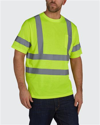 Utility Pro Wear UHV302 Stain-Resistant ANSI Class 3 Hi Vis Short Sleeve T Shirt