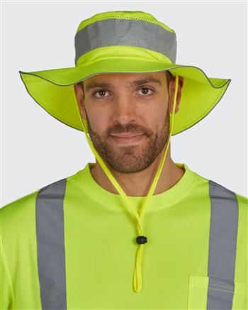 Utility Pro Wear UHV503 Hi Vis Bucket Hat, Protected with PERIMETER Insect Guard & SPF Protection
