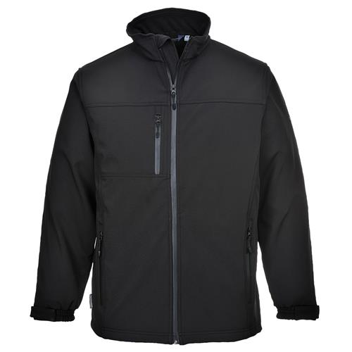 PortWest UTK50BKR Technik Breathable Laminated Three Layer Softshell Jacket, Windproof, Waterproof, Black