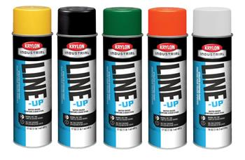 Krylon Line-Up Water-Based Athletic Field Striping Paints, 13 Color Choices, Case/ 12 Cans