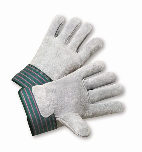 "West Chester 600-EA, Full Leather Back, Select Shoulder Leather Palm Glove, 2  1/2"" Rubberized Safety Cuff Gloves"