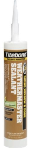 Titebond WeatherMaster Sealants, 10.1 Oz. Cartridge, Case/12. White, Black & Clear Colors