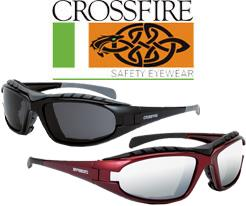 CrossFire Diamondback Safety Glass Series with Foam Lined