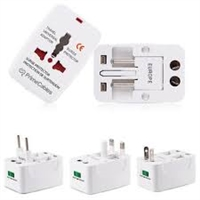 Universal Travel AC Adaptor All in One UK/US/AU/EU/CA Multi Plug