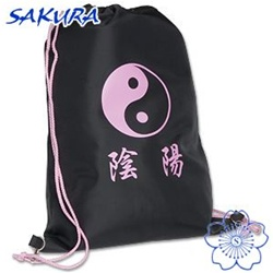 Martial Arts Supplies Gear Bag Sport Pack Pink Yin Yang