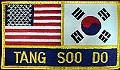 Martial Arts Accessories Patches USA Flag Korean Flag Tang Soo Do