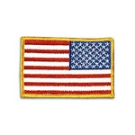 Martial Arts Accessories Patch USA Flag Reversed Right Shoulder