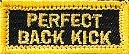 Martial Arts Accessories Patch Iron On Back Kick