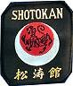 Martial Arts Accessories Patch Shotokan Tiger Gold