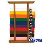Martial Arts Accessories Rank Belt Display Ten 10 Belt Level