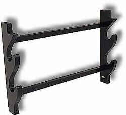 Martial Arts Accessories Rack Weapon Two Sword