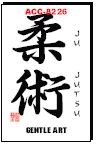 Martial Arts Accessories Kanji Jujutsu