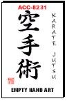 Martial Arts Accessories Kanji Karatejutsu