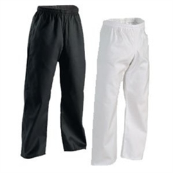 Martial Arts Uniforms Karate Pants 6 oz Elastic Waist Gladiator