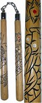 Martial Arts Weapons Nunchaku Carved Dragon