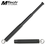 "Expandable Key Chain Baton 12"" Overall Silver and Black"