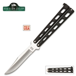 Martial Arts Weapons Knife Rotating Drop Point Folding Knife