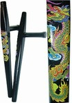 Martial Arts Weapons Tonfa Black Dragon