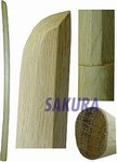 Martial Arts Weapons Sword Bokken Deluxe White Oak